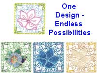 Divine Flower Squares Machine Embroidery Designs