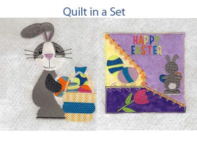 Easter Bunnies Machine Embroidery Designs