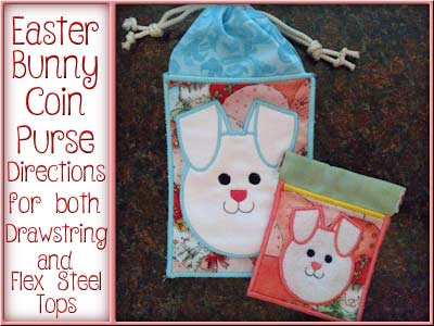 Easter Bunny Coin Purse