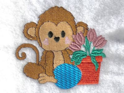 Easter Monkeys Machine Embroidery Designs