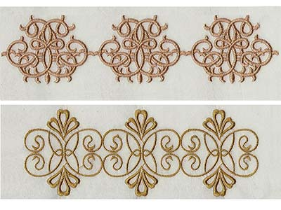 Elegant Linen Swirls Machine Embroidery Designs