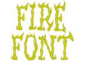 Fire Font Machine Embroidery Designs