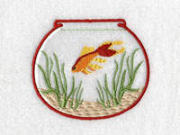Vinyl Covered Fish Bowls Machine Embroidery Designs