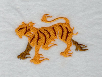 Flaming Cats Machine Embroidery Designs