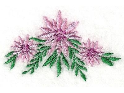 Floral Flowers Embroidery Machine Design