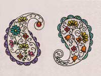 Floral Paisley Machine Embroidery Designs