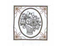 Flower Baskets Machine Embroidery Designs