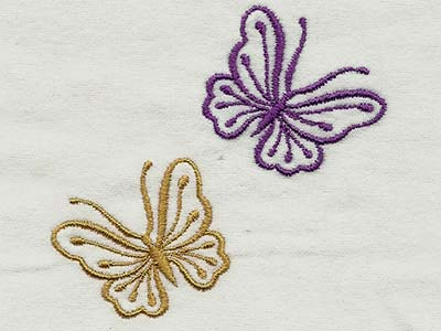 Machine Embroidery Designs Fluttery Butterflies 2 Set