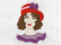 Fringed Red Hat Ladies Machine Embroidery Designs