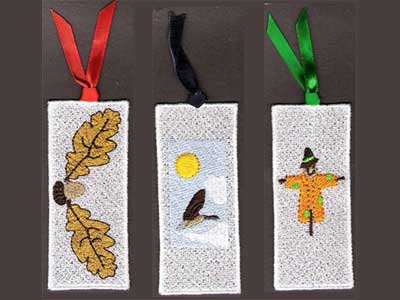 FSL Fall Bookmarks Machine Embroidery Designs