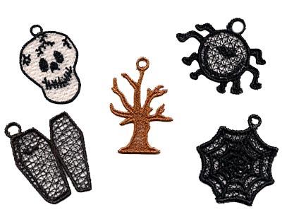 Machine Embroidery Designs Fsl Halloween Minis Set