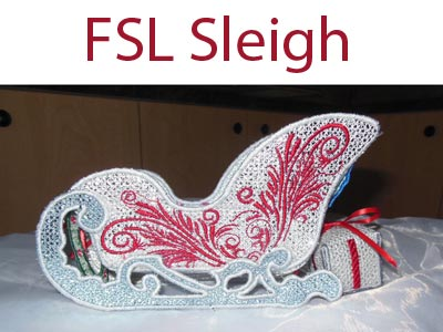 FSL Sleigh Machine Embroidery Designs