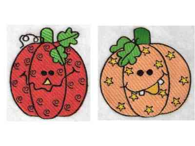 Funky Pumpkins Machine Embroidery Designs