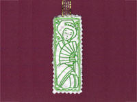 Geisha Bookmarks Machine Embroidery Designs