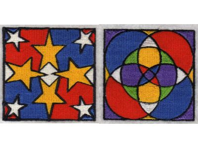 Geometric Blocks Machine Embroidery Designs