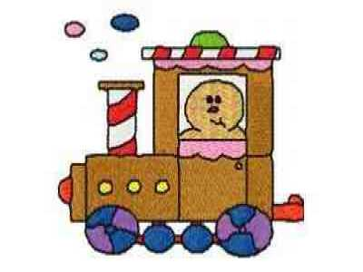 Buy inidual embroidery designs from the set dd gingerbread train