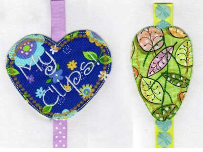 Machine Embroidery Designs  Girly Hair Clips Set