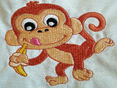 Machine Embroidery Designs - Happy Monkeys Set