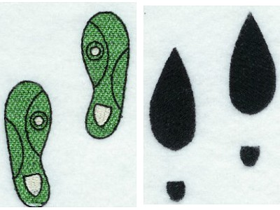 Human Foot Prints Machine Embroidery Designs