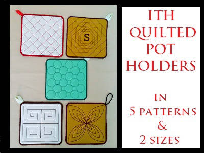 In The Hoop Quilted Pot Holders