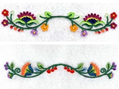 Jacobean Borders Machine Embroidery Designs