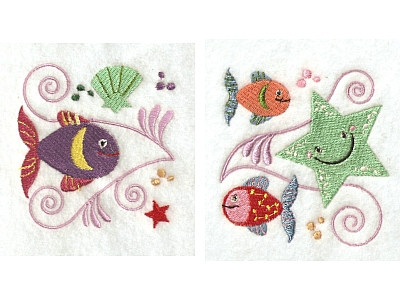 Jacobean Sea Friends Machine Embroidery Designs