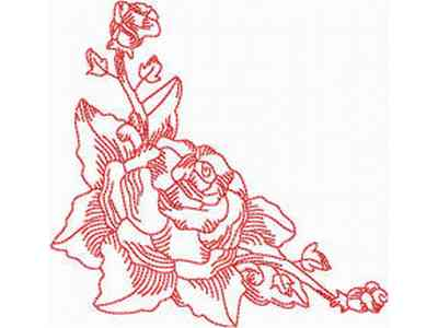 JN Rose Borders Mini Set Embroidery Machine Design