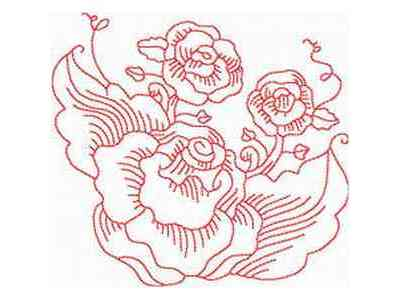 Simple Rose Embroidery Design – Needle'nThread.com