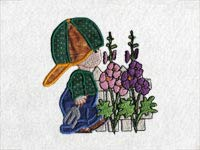 Applique Kids in the Meadow Machine Embroidery Designs