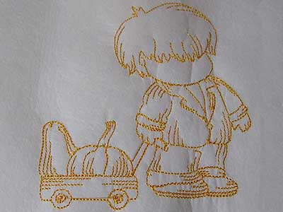 Line Art Autumn Bonnets Machine Embroidery Designs