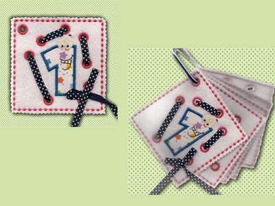 In The Hoop Lace Up Applique Activity Pages Machine Embroidery Designs