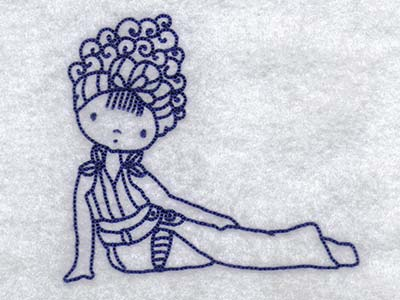 Fashion Girl Online Download on Buy Individual Embroidery Designs From The Set Line Art Fashion Girl