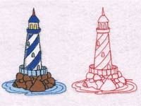 Lighthouses Machine Embroidery Designs