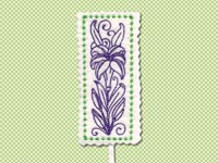 Lily Bookmark Machine Embroidery Designs