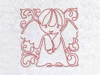 Lineart Angel Blocks Machine Embroidery Designs