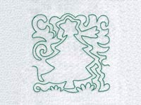 Lineart Christmas Blocks Machine Embroidery Designs