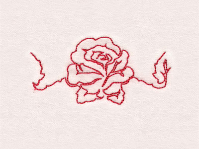 Lineart Roses Borders Machine Embroidery Designs