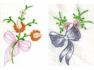 Linen Bows Machine Embroidery Designs