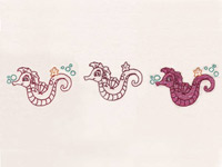 Little Seahorses 3 For 1 Machine Embroidery Designs