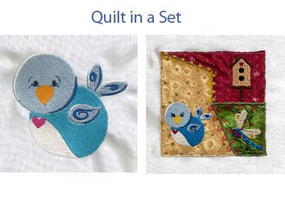 Love Birds Machine Embroidery Designs