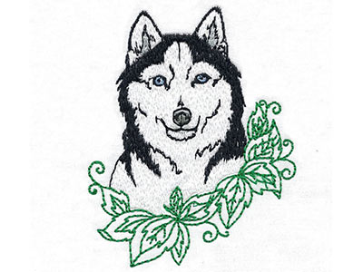 Malamutes and Huskies Machine Embroidery Designs