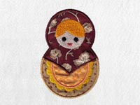 Matryoshka Dolls Machine Embroidery Designs