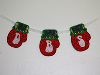 Mitten Banner Machine Embroidery Designs