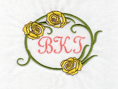 Floral Monogram Frames Machine Embroidery Designs