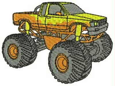 Monster Trucks Machine Embroidery Designs