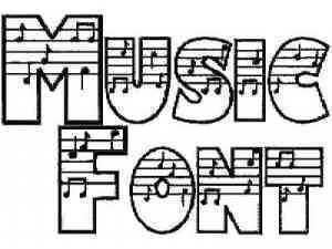 Music Font Machine Embroidery Designs