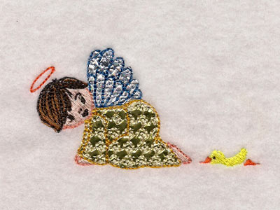 Mylar Cute Angels Machine Embroidery Designs
