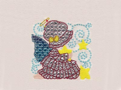 Mylar Sunbonnet Angel Blocks Machine Embroidery Designs