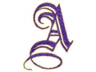 A Alphabet Design Machine Embroidery Designs - DD Oh So Elegant Alphabet Set