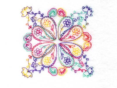 Paisley Quilt Blocks Machine Embroidery Designs